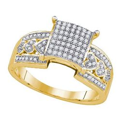 10KT Yellow Gold 0.30CTW DIAMOND MICRO-PAVE BRIDAL RING