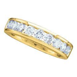 14KT Yellow Gold 0.25CTW DIAMOND LADIES FASHION BAND