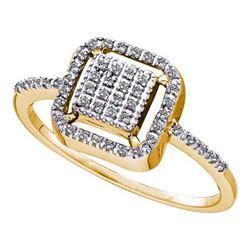 10KT Yellow Gold 0.15CTW ROUND DIAMOND LADIES FASHION R