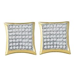 10KT Yellow Gold 0.33CTW DIAMOND MICRO PAVE EARRINGS