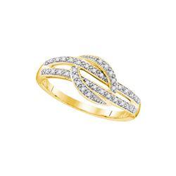 10kt Yellow Gold Womens Round Natural Diamond Fashion B