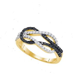10K Yellow-gold 0.52CTW DIAMOND FASHION RING