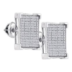 925 Sterling Silver White 0.93CT DIAMOND MICRO-PAVE EAR