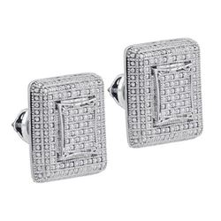 925 Sterling Silver White 0.23CTW DIAMOND MICRO-PAVE EA