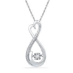 10kt White Gold Womens Round Natural Diamond Infinity M