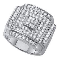 10KT White Gold 0.25CTW DIAMOND CLUSTER BRIDAL SET