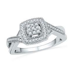 10KT White Gold 0.20CTW DIAMOND FASHION RING
