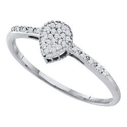 10KT White Gold 0.07CTW DIAMOND FASHION RING