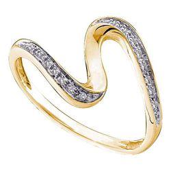14KT Yellow Gold 0.05CTW ROUND DIAMOND LADIES FASHION R