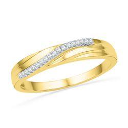 10K Yellow-gold 0.06CTW DIAMOND FASHION BAND