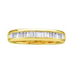 14KT Yellow Gold 0.50CTW BAGGUETTE DIAMOND LADIES FASHI