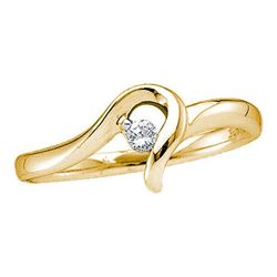 10KT Yellow Gold 0.05CTW DIAMOND PROMISE RING