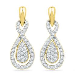 10K Yellow-gold 0.33CTW DIAMOND FASHION EARRING