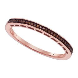 10KT Rose Gold 0.07CTW DIAMOND MICRO-PARE BAND