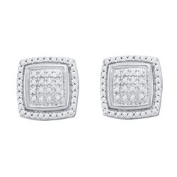 10KT White Gold 0.28CTW DIAMOND MICRO PAVE EARRINGS
