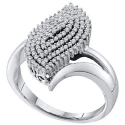 10KT White Gold 0.40CTW DIAMOND MICRO PAVE RING