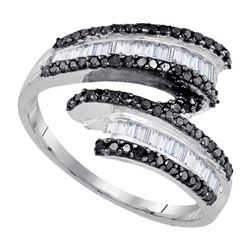 925 Sterling Silver White 0.54CT DIAMOND FASHION RING