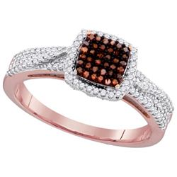 10KT Rose Gold 0.33CTW DIAMOND MICRO-PAVE RING