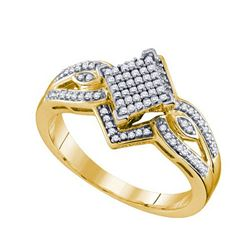 10K Yellow-gold 0.25CT DIAMOND MICRO PAVE RING