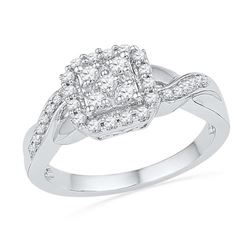 10KT White Gold 0.33CTW DIAMOND FASHION RING