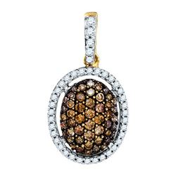 14K Yellow-gold 0.48CT DIAMOND FASHION PENDANT