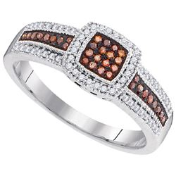 10KT White Gold 0.25CTW DIAMOND BROWN RING