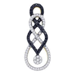 10K Yellow-gold 0.35CT DIAMOND FASHION PENDANT