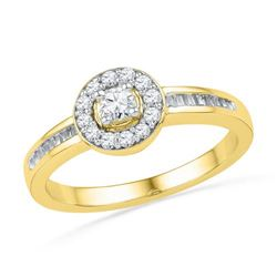 10K Yellow-gold 0.33CTW DIAMMOND FASHION RING