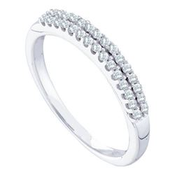 14KT White Gold 0.20CTW DIAMOND FASHION BAND