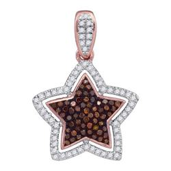 14K Yellow-Gold 0.28CTW DIAMOND MICRO-PAVE STAR PENDANT