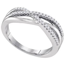 10KT White Gold 0.16CTW DIAMOND FASHION BAND