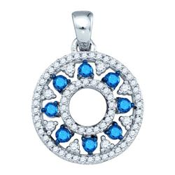 10KT White Gold 0.50CT BLUE DIAMOND FASHION PENDANT