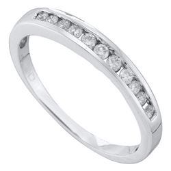 14K White-gold 0.24CT DIAMOND FASHION BAND