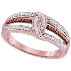 10KT Rose Gold 0.20CTW RED DIAMOND MICRO-PAVE RING