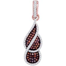 10KT Rose Gold 0.33CTW-Diamond MICRO-PAVE PENDANT