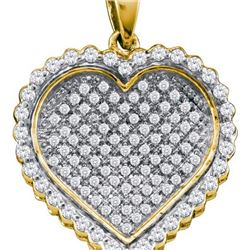 10K Yellow-gold 1.50CT DIAMOND HEART PENDANT