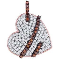 10KT Rose Gold 0.33CTW DIAMOND HEART PENDANT