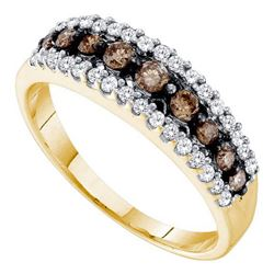 14KT Yellow Gold 0.50CTW COGNAC DIAMOND LADIES FASHION