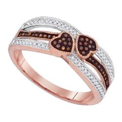 10KT Rose Gold 0.20CTW DIAMOND MICRO-PAVE RING