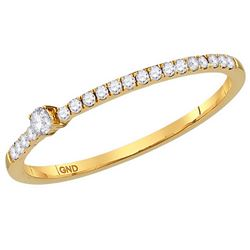 10kt Yellow Gold Womens Round Diamond Solitaire Stackab
