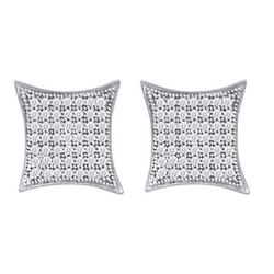 10KT White Gold 0.40CTW DIAMOND MICRO PAVE EARRINGS