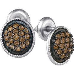 10KT White Gold 0.50CTW-Diamond FASHION EARRING