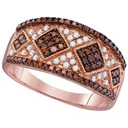 10KT Rose Gold 0.51CTW RED DIAMOND FASHION RING