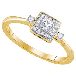 14KT Yellow Gold 0.25CTW DIAMOND FASHION RING