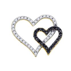 10KT Yellow Gold 0.53CTW DIAMOND LADIES HEART PENDANT