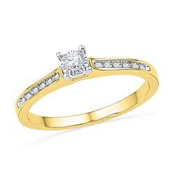 10K Yellow-gold 0.10CTW DIAMOND FASHION RING