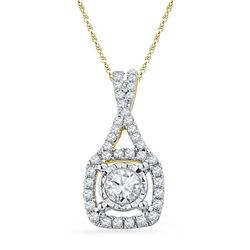 10K Yellow-gold 0.40CTW DIAMOND FASHION PENDANT