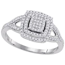 10KT White Gold 0.33CTW DIAMOND MICRO-PAVE BRIDAL RING
