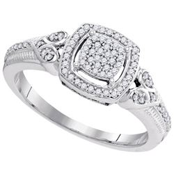 10KT White Gold 0.20CTW DIAMOND MICRO-PAVE RING