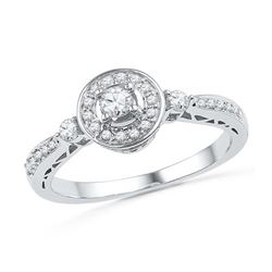 10KT White Gold 0.40CTW DIAMOND FASHION RING